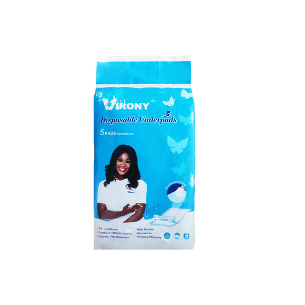 Virony Disposable Underpads 600 x 900mm x 5 Pads