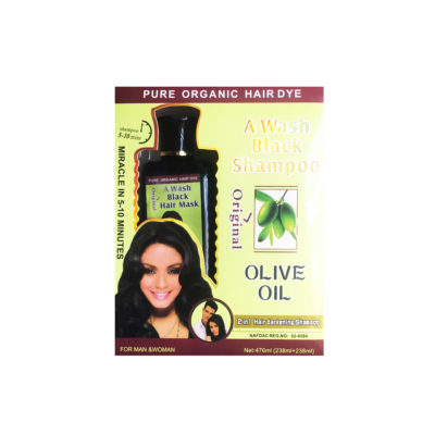 A Wash 2 In 1 Black Shampoo With Olive Oil 476ml