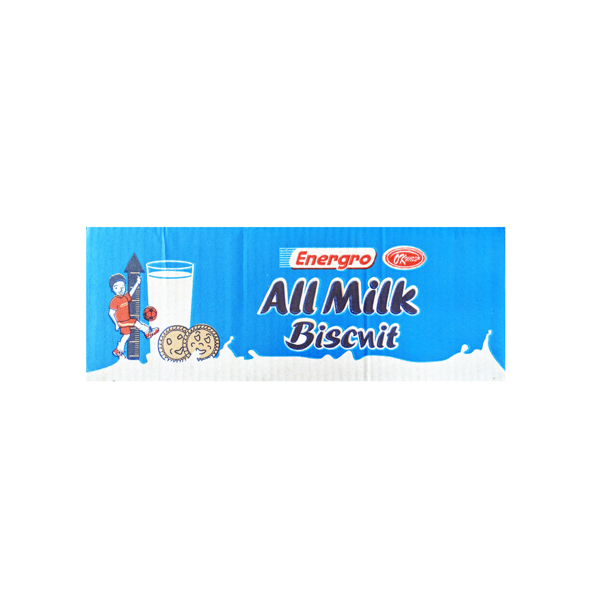 All Milk Biscuits Contains wheat, milk protein and soya to give that great taste of milk and energy for your every day activities. Quantity: 144 packets per carton Weight: 11g x 144