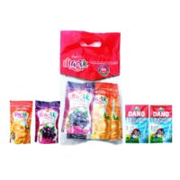 Magik Fruit Drink A tasty fruit drink filled with nourishing goodness of Vitamin-C and Glucose to give you an unmatched refreshing experience. Enjoy great taste. The leather bag contains three(3) pieces of blackcurrant flavour and three(3) pieces orange flavour with two(2) free Dano milk powder sachets. Quantity: 6 pouches per leather bag Volume: 200ml per pouch