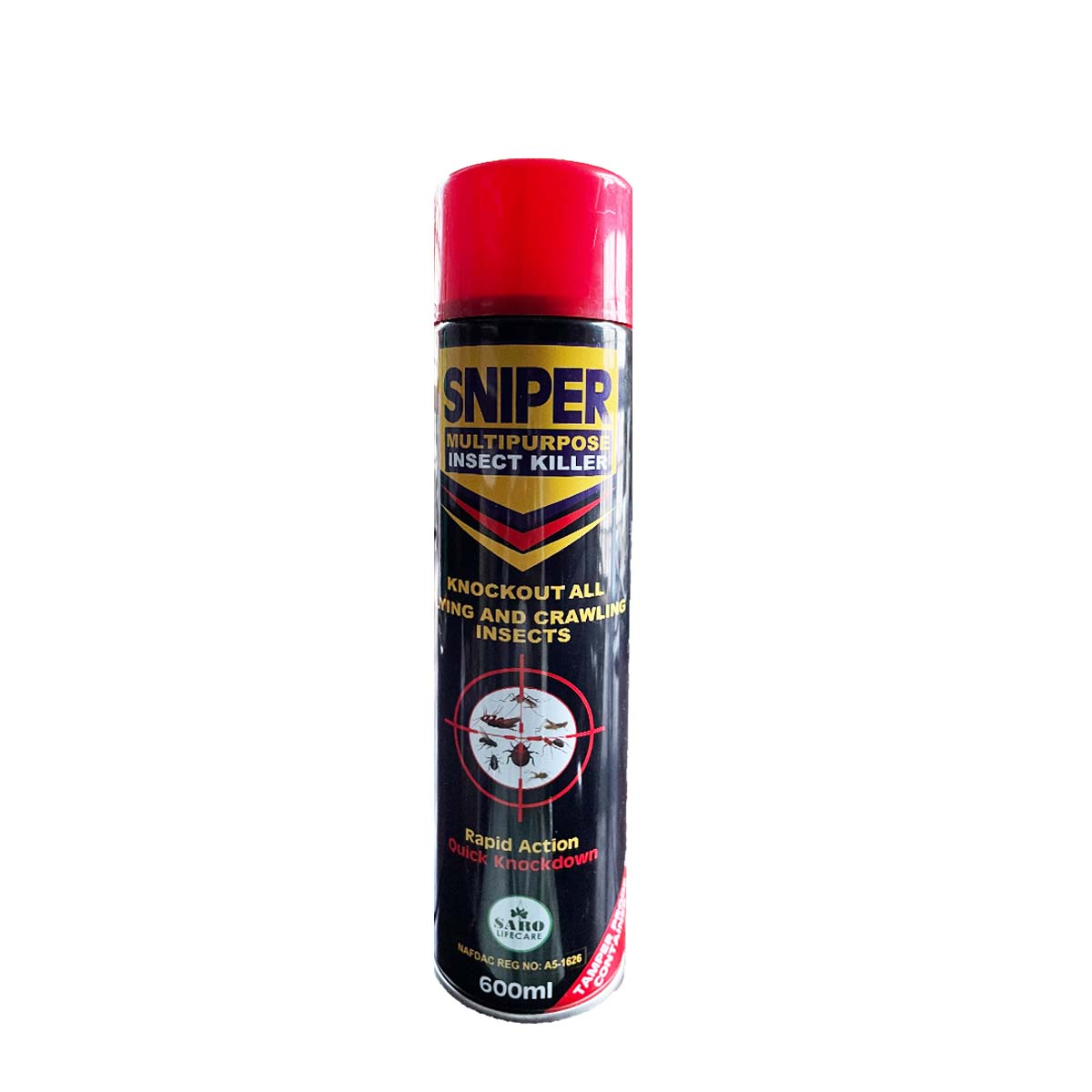 Sniper Multi Purpose Insect Killer Flying And Crawling Insecticide 600ml